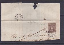 1860 10 CENT BRUNO ROSSICCIO 19f DA SAN SEPOLCRO (4 Pt) A FIRENZE FIRMATA BIONDI