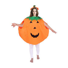 Halloween Pumpkin Adult Fancy Dress Costume Party Cosplay Outfit Coat With Hat