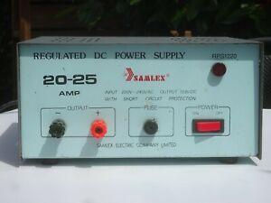 SAMLEX 13.8V 20-25 AMP REGULATED DC POWER SUPPLY RPS1220