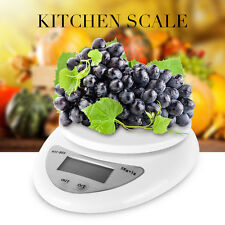 LCD Digital Kitchen Scale Diet Food Balance 5KG 11LBS Bowl Electronic Weight NEW