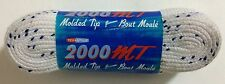 """Tex Style 2000 MT Molded Tip Hockey Skate Laces 84"""" - 213cm White Wide Unwaxed"""