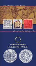 Österreich 5 Euro 2005 Silber Europahymne Beethoven hgh im Blister