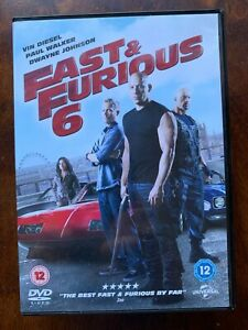 Fast and Furious 6 DVD 2013 Action Car Chase Movie w/ Paul Walker + Vin Diesel