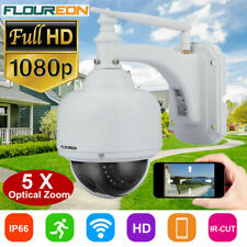 1080P HD 2.0MP Outdoor Wireless WiFi CCTV IP Camera 5X Optical Zoom PTZ Dome CAM