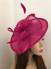 Fuchsia Pink Fascinator Saucer Hat Hatinator Races Formal Disc Wedding Fushia