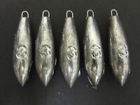 5 x 3oz Pro Beach Bomb Lead Weights Lure Cod Sea Pier Mackerel Bait Fishing