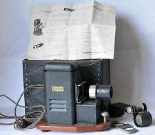 "Konislide slide projector with original box & instructions for 2""x2"" 35mm film"