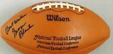 George Blanda Signed Vintage 1960's Pete Rozelle NFL Duke Game Ball JSA LOA