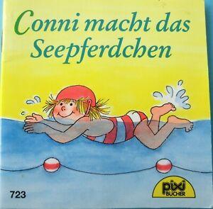 Pixi Buch alt Nr. 723 -Conni macht das Seepferdchen- 4. Aufl. 97-Sammlung-Bücher