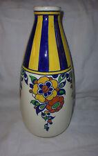 Vase Keramis Charles Catteau Boch Freres décor Art Déco N°D1049 / Ht: 31cm