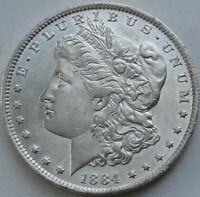 1884-O Morgan Silver Dollar in a SAFLIP® - BU- (AU+++) - Prooflike (PL)