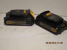 Dewalt (2) DCB201 20-Volt/Max 1.5 AH COMPACT  LITH-ION Battery packs NEW FSHIP
