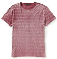 John Varvatos Star USA Men's Short Sleeve Variegated Crew T-Shirt Cranberry