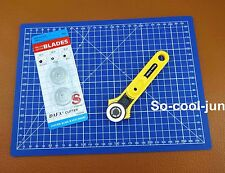 28mm Rotary Cutter Blade A4 Cutting Mat Leather Craft Quilting Tool Kit Set