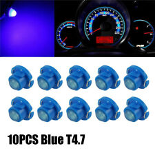 10pcs T4.7 T5 Neo Wedge LED Bulb Dash Climate Control Instrument Light Lamp Blue