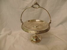 Antique Bride's Basket Meriden Co Silver Plate Brides Cake Basket