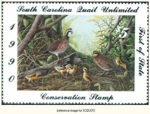 South Carolina Quail Unlimited 1990 $5 *SALE*