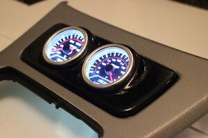 BMW E90 E92 E93 Centre Console Gauge Holder 2 Hole 52mm - Gloss Black ABS