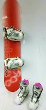 Kids Snowboard package, with ratchet bindings and boa boots, fitted 133cm
