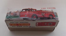 VINTAGE DAIYA JAPAN FRICTION POWERED TIN TOY FIRE TRUCK W/SIREN ACTION IN BOX