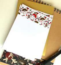 HN4 Notecard set;hand decorated A6; 10 cards with gold envelopes;special;gift