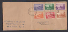 Austrailia: Norfolk Island FIRST DAY COVER 10th June 1947