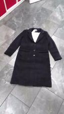 H & M Womens coat NAVY BLUE lined 6