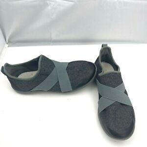 Crocs Dual Comfort Swiftwater Cross Strap Slip On Gray Sneakers Womens Size 9