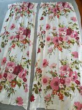 Vintage barkcloth curtains Beautiful Mcm