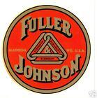 FULLER & JOHNSON (1 PAIR) VINYL STICKER (A072)