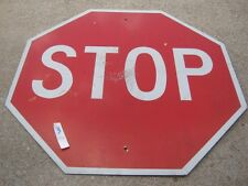 "Vintage? Aluminum Stop Red & White Street Sign Retired Sign 30"" x 30"""