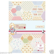 docrafts Papermania Tilly Daydream A4 Paper Pack 32 Sheets 160gsm Papers -