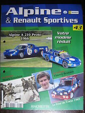 FASCICULE 43   ALPINE RENAULT SPORTIVES A210 PROTO 1966