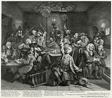 Hogarth Print Reproduction: A Rake's Progress: Gambling, Plate 6: Fine Art Print