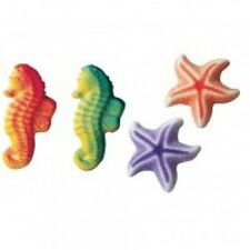 Sugar Decorations Cookie Cake Cupcake COLORED SEA STARFISH 12 ct.