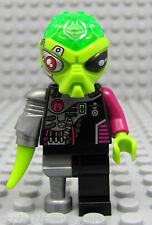 NEW Lego Alien Conquest Cyborg PIRATE VILLAIN Minifigure 7066 Green Minifig Head