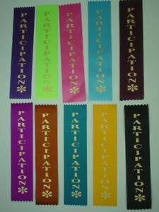 PARTICIPATION AWARD RIBBONS FOR CLUBS,EVENTS,SCHOOLS