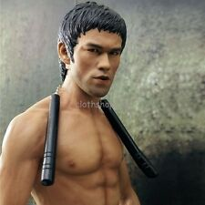 1/6 Scale Bruce Lee Head Sculpt Model Toys F 12'' Hot Toys Enterbay Body Figure