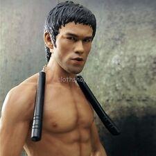 1/6 Scale Bruce Lee Head Sculpt Model Toys F 12'' Hot Toys Enterbay Body Figure