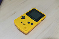 New Refurbished Game Boy Color Console  Yellow New Body & Screen & Glass Screen