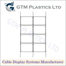 Cable Window Estate Agent Display - 2x4 A4 Landscape - Suspended Wire Systems