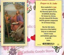 Saint Luke with - prayer to St. Luke - Laminated  Holy Card
