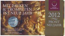 Österreich 5 Euro 2012 Silber Musikfreunde hgh im Blister