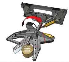 Skid Steer Tree Shear Attachment - Timberline TB-1000 - Amazing Cutting Power!