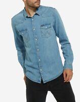 Wrangler Western Denim Shirt (Light Indigo)