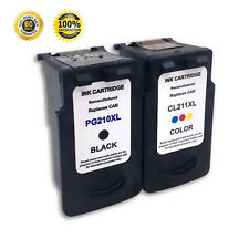 2 Pack Ink Cartridge For Canon PG-210XL CL-211XL PIXMA MX320 MX330 MX240 Printer