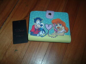LOUNGEFLY DISNEY GOOFY MOVIE MAX & ROXANNE SMALL WALLET~ WITH TAGS~BRAND NEW~