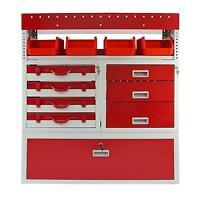 Van Racking Metal Shelving System Steel Rack Tool Storage Drawers Lockable Unit