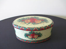 Beautiful Vintage Oval Christmas Meister Tin/Can Box, Made in Brazil