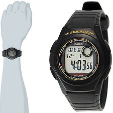 Casio Digital Illuminator 2 Time-Zones Multi Alarms Watch F-200W-9A New